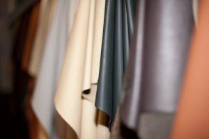 leather fan, leather, pattern