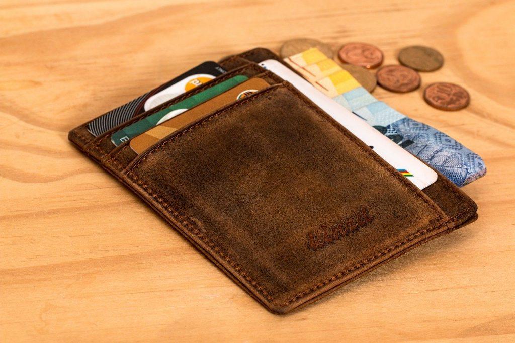 wallet, credit card, cash